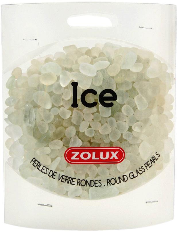 Декор для аквариума Zolux Лед стеклянный белый 472 гр (1 уп).
