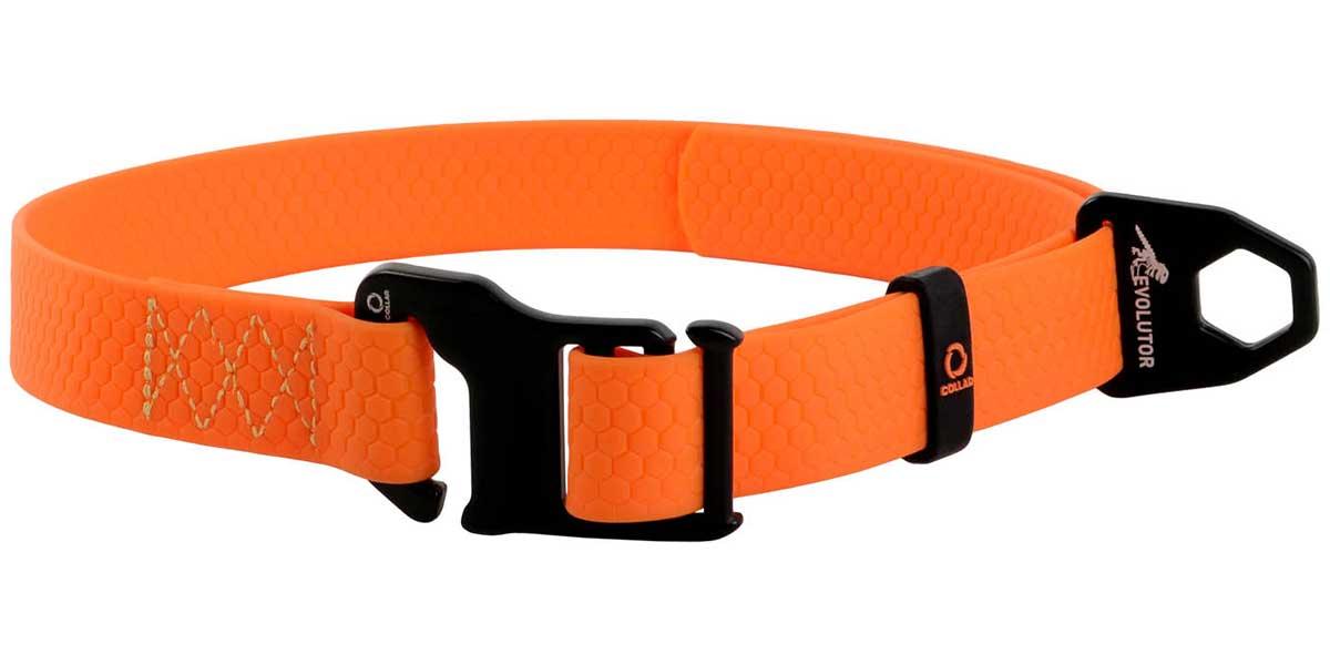 Ошейник для собак оранжевый 25 мм