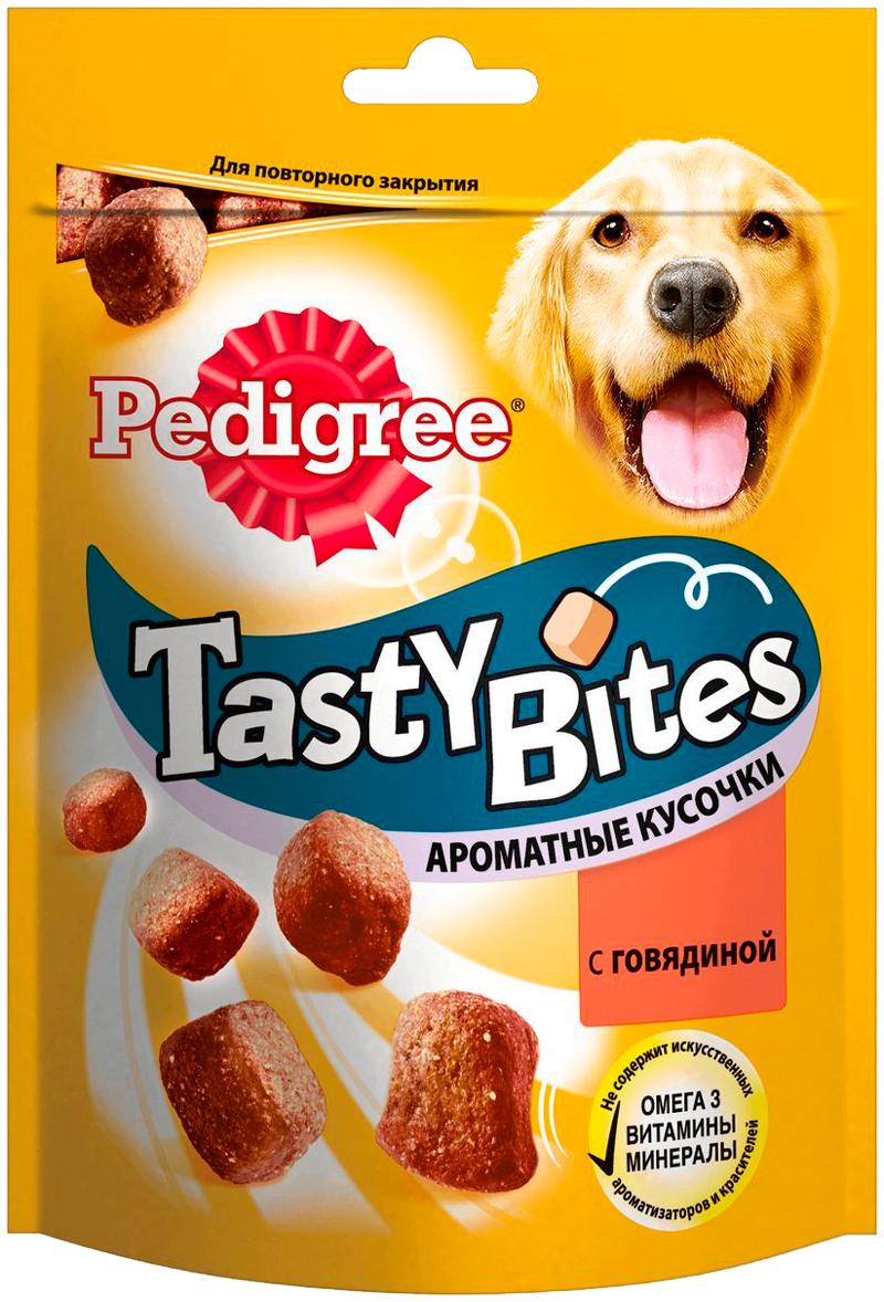 Лакомство Pedigree Tasty Bites для собак ароматные кусочки с говядиной (130 гр)