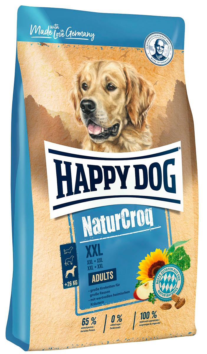 Happy Dog Naturcroq Xxl для взрослых собак крупных пород (15 кг) happy dog naturcroq senior для пожилых собак всех пород 15 кг