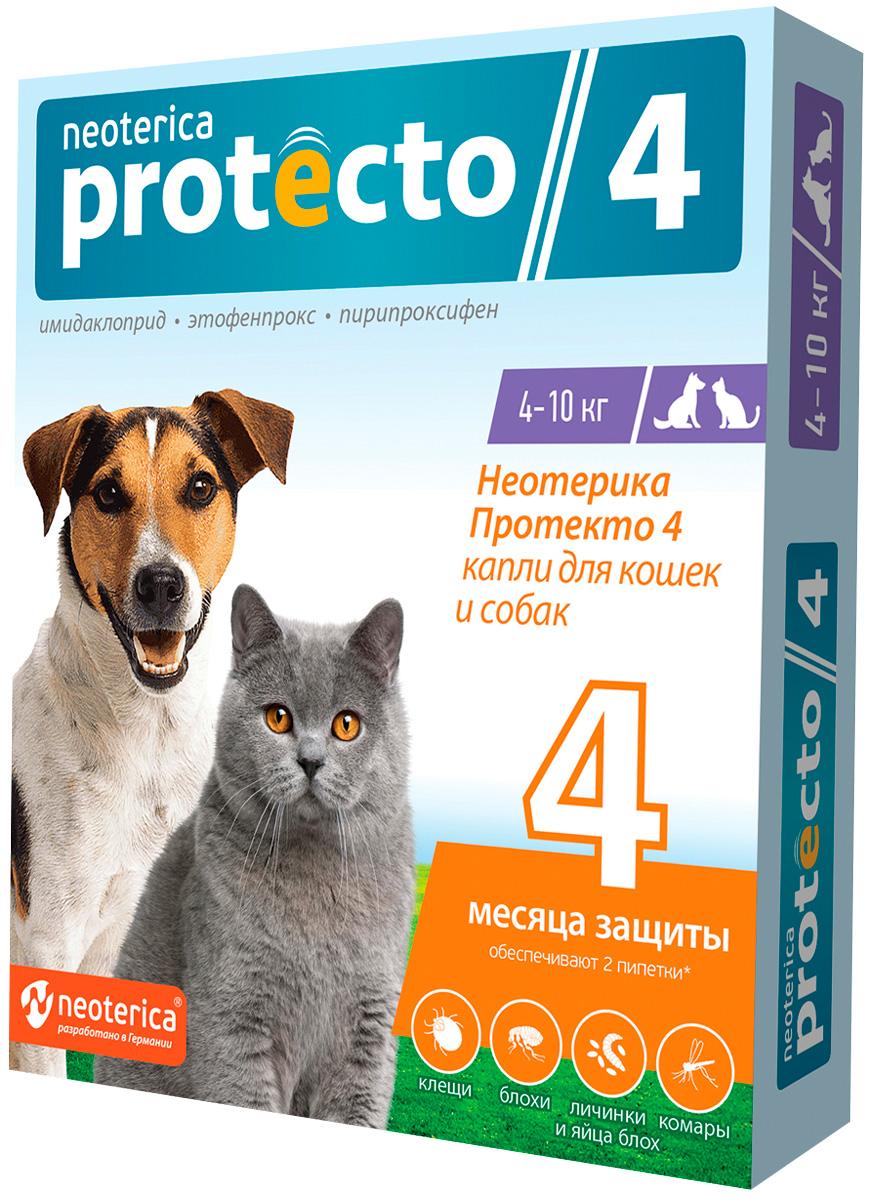 Protecto капли для кошек и собак весом