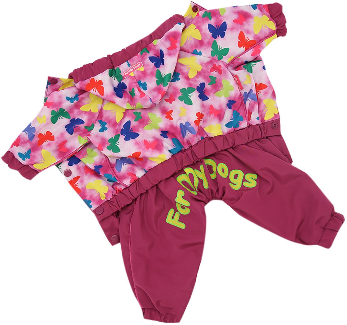 For My Dogs дождевик для собак розовый для девочек 442ss-2020 F (16)