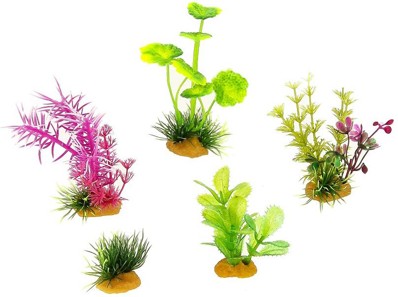 Набор пластиковых растений для аквариума Prime Pr-70603 уп. 5 шт (1 уп) 0 pr на 100