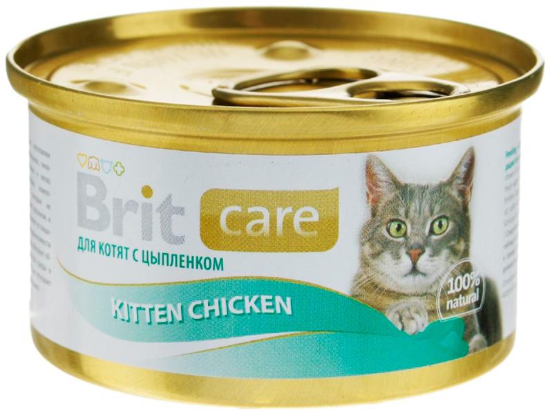 Brit Care Kitten Chicken для котят с курицей 80 гр (80 гр)