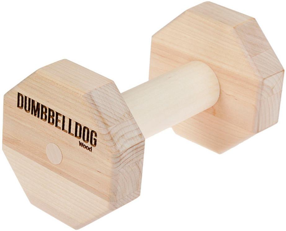 Гантель деревянная Dumbbelldog Wood для собак средняя Doglike (1 шт)