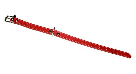 Ошейник для собак кожаный красный 26 - 34 см x 16 мм Аркон (1 шт)