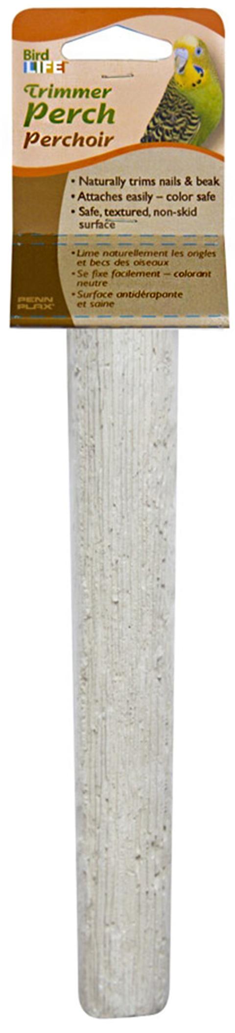 Жердочка для птиц Penn-Plax минеральная 20 х 4 см (1 шт) penn plax переноска клетка penn plax для грызунов и птиц большая