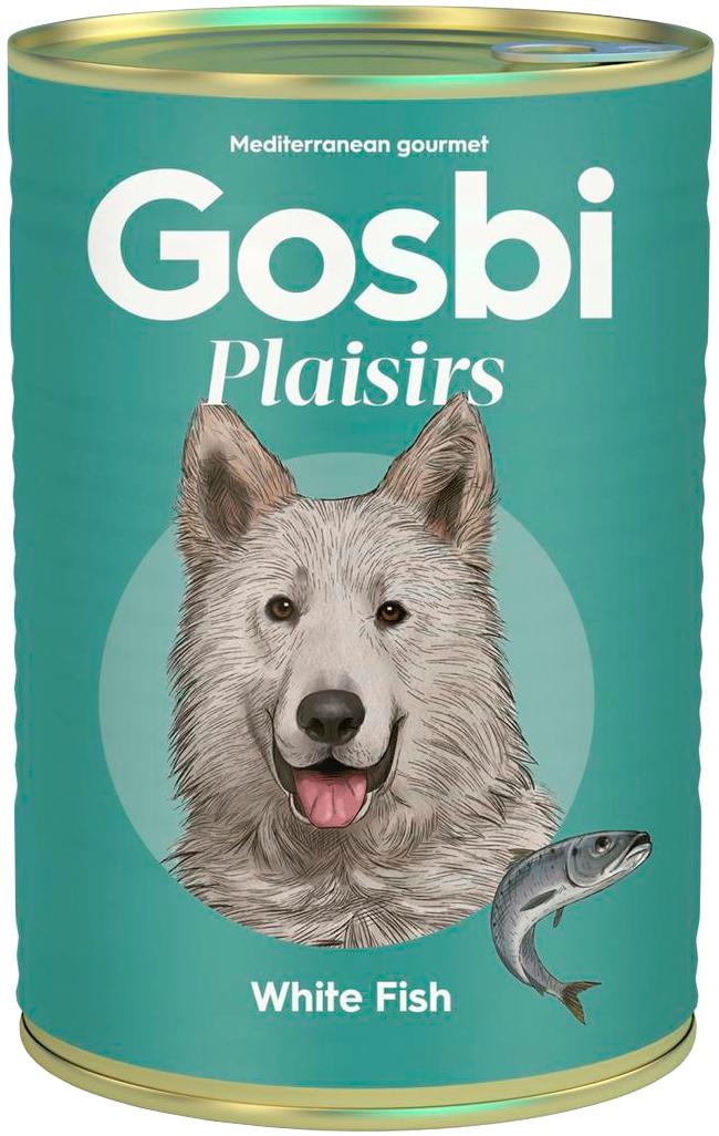 Gosbi Plaisirs White Fish беззерновые для взрослых собак с белой рыбой (185 гр)