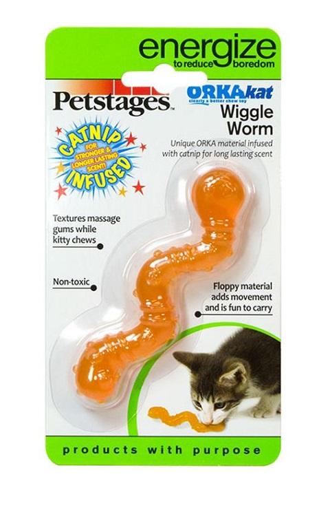 Petstages игрушка для кошек Energize ОPKA-червяк 11 см (1 шт).