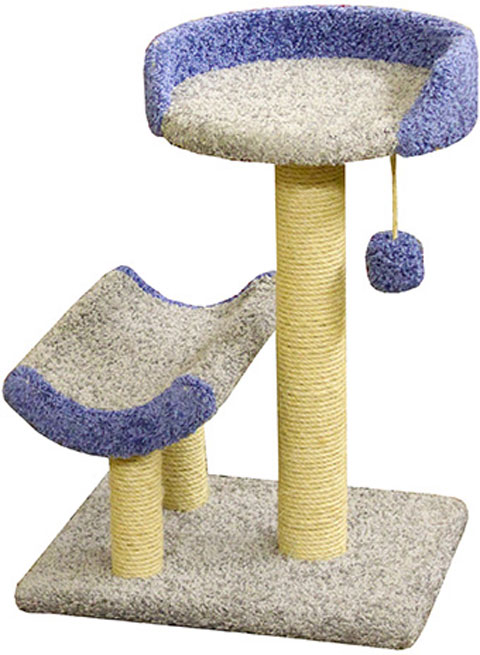 Когтеточка Кука Пушок ковролин серая с синим (1 шт)