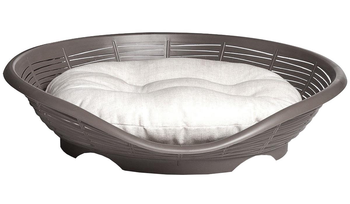 Лежанка с подушкой Bama Pet Pasha антрацит 48 х 46 х 11 см (1 шт)