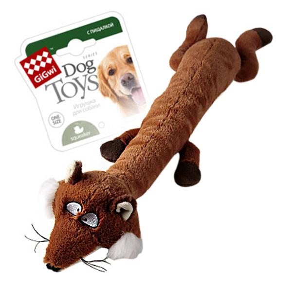 Игрушка для собак GiGwi Лиса с большой и малой пищалкой 62 см (1 шт)