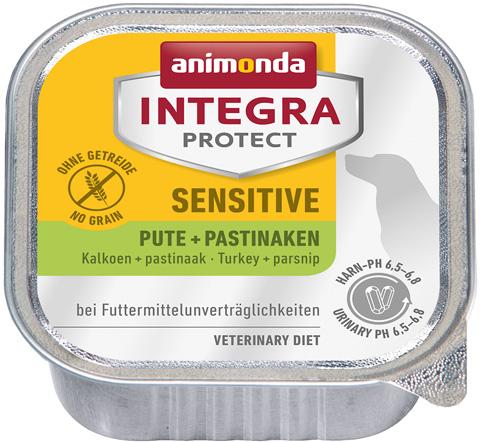 Animonda Integra Protect Dog Sensitive для взрослых собак при пищевой аллергии с индейкой и пастернаком 150 гр (150 гр х 11 шт)