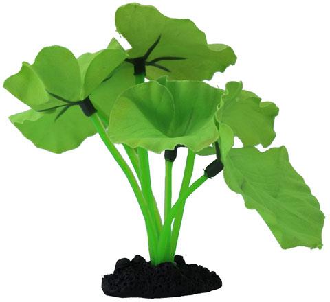 Растение для аквариума шелковое Нимфея зеленая Prime Pr-81040g (20 см) 0 pr на 100