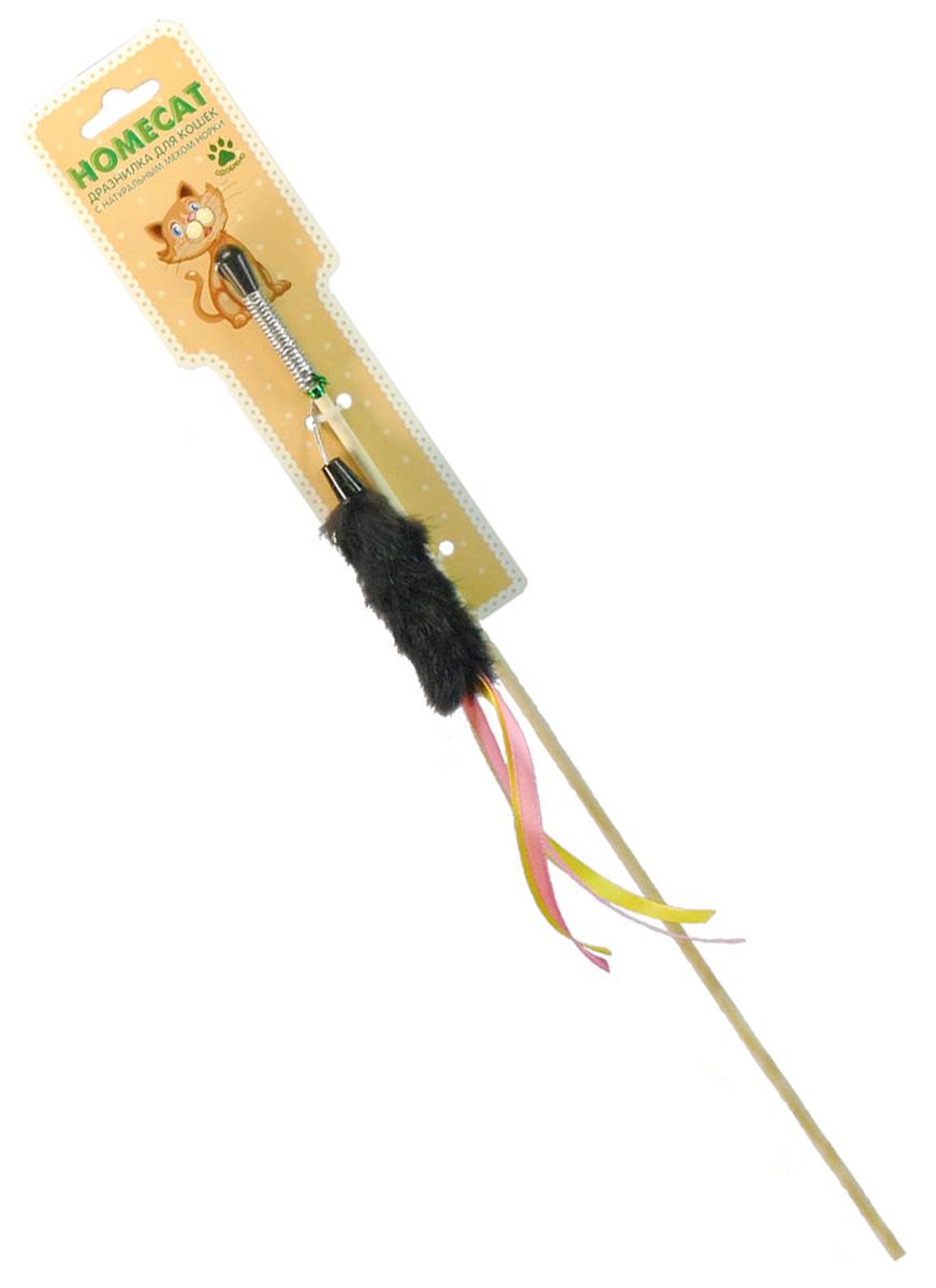 Игрушка для кошек Homecat дразнилка Лапка из норки с лентами 71133 (1 шт) фото