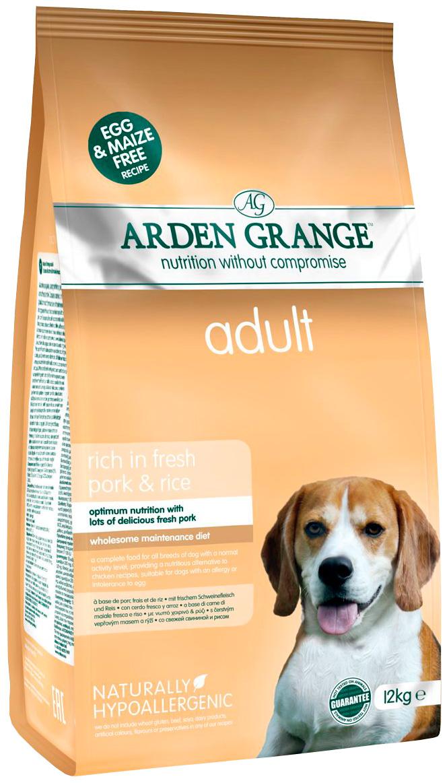 Arden Grange Adult Pork  Rice для взрослых собак всех пород со свининой и рисом (12 + 12 кг).