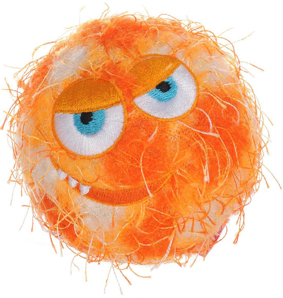 Игрушка для собак GiGwi Crazy Ball Мяч с пищалкой оранжевый 7 см (1 шт)