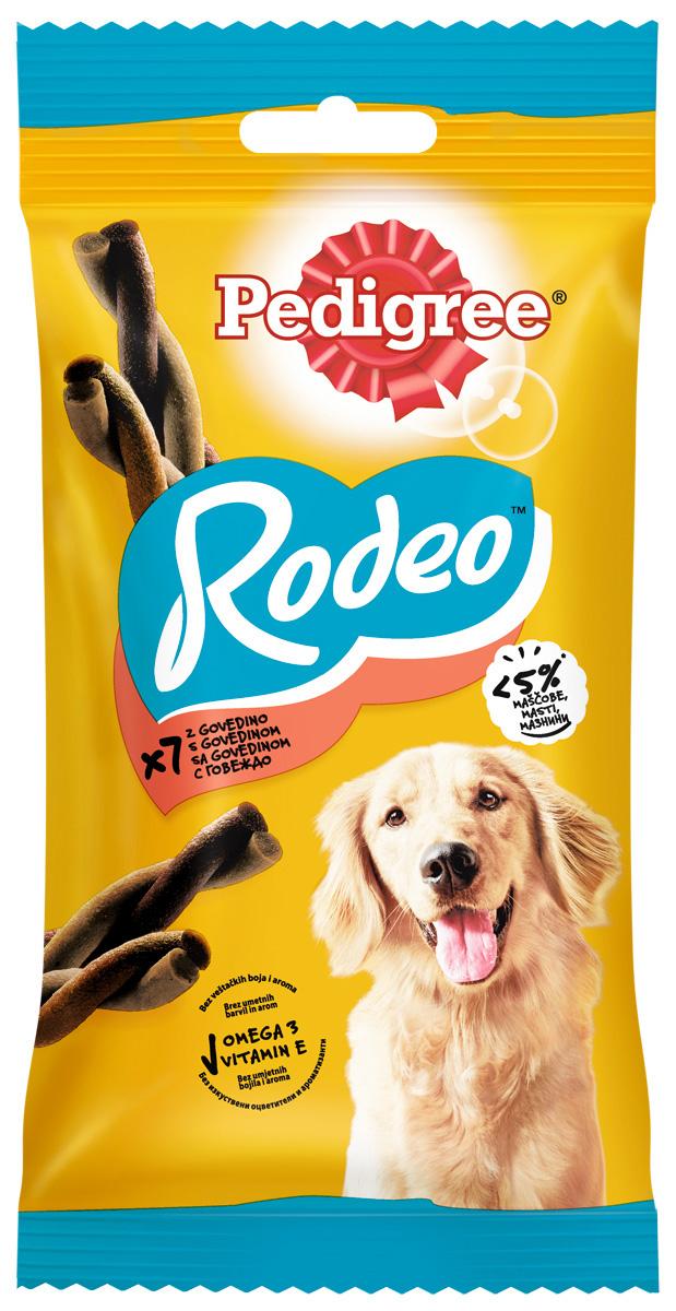 Лакомство Pedigree Rodeo для собак косички мясные (123 гр)