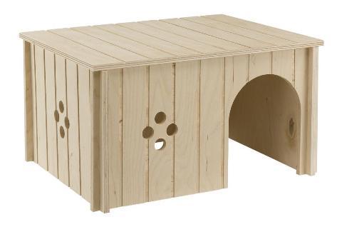 Ferplast Sin 4646 домик для кроликов, 33 х 23,6 х 16 см (1 шт) домик для грызунов ferplast sin 4646 деревянный 33x23 6x16см