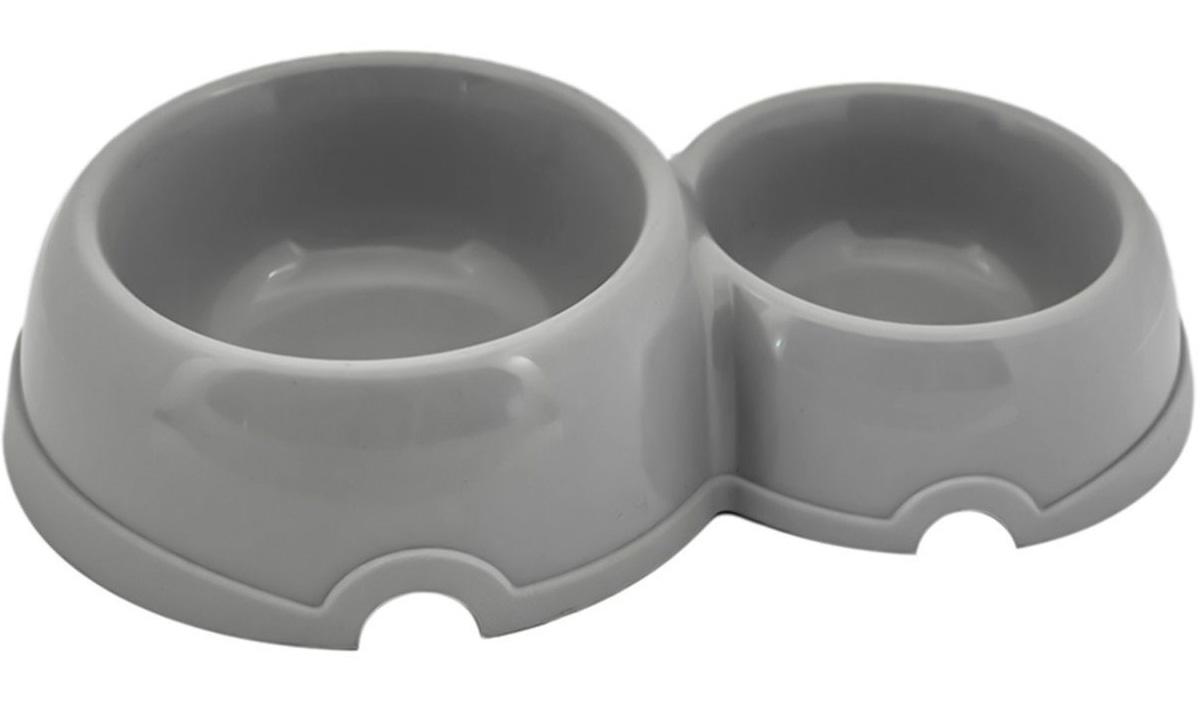Миска двойная для кошек Дарэлл пластиковая 0,1 л/0,2 л (1 шт)