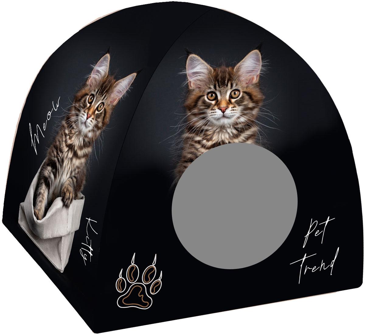 Дом для животных PerseiLine Дизайн вигвам Кот в мешке 40 х 39 см (1 шт)