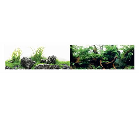 Аквариумный фон плотный двухсторонний Barbus Зеленый рай/Воды Амазонки 45 см/94 см Background 041 (1 шт)