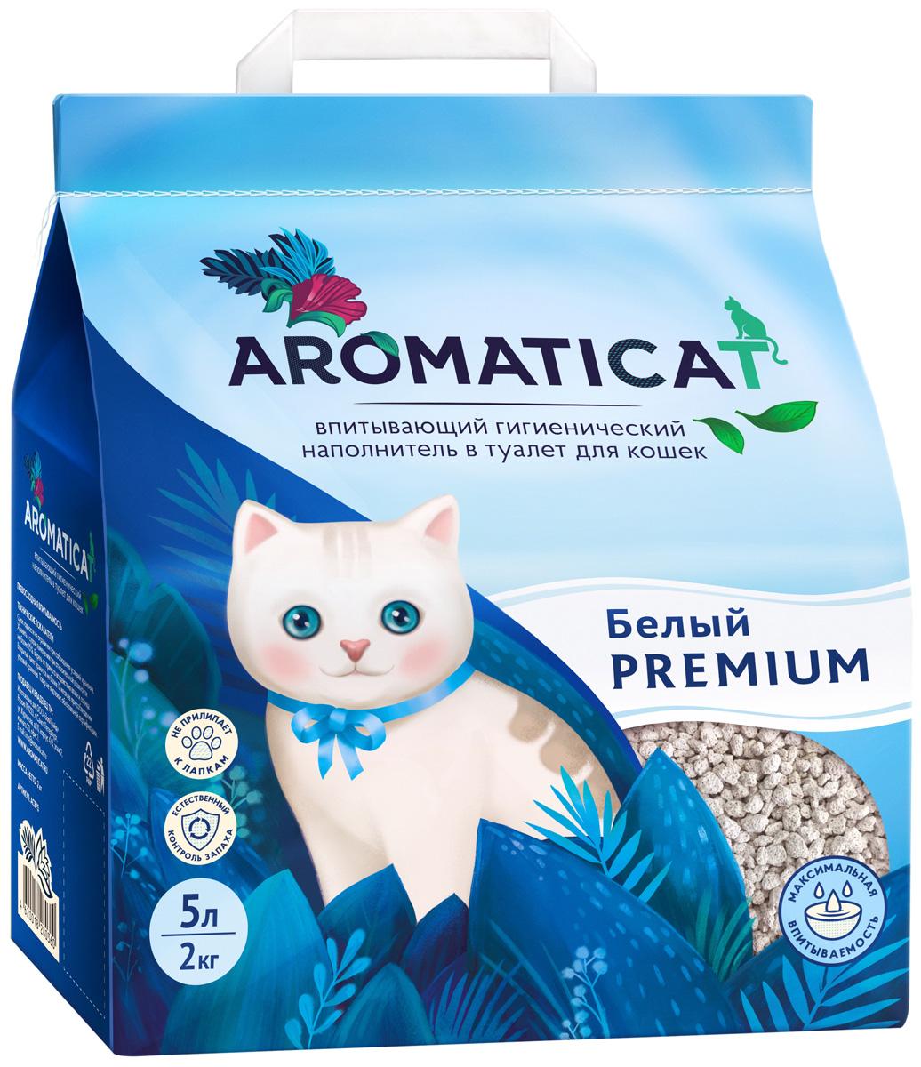 Aromaticat Premium белый наполнитель впитывающий для туалета кошек (10 л) впитывающий наполнитель brava классик 10 л