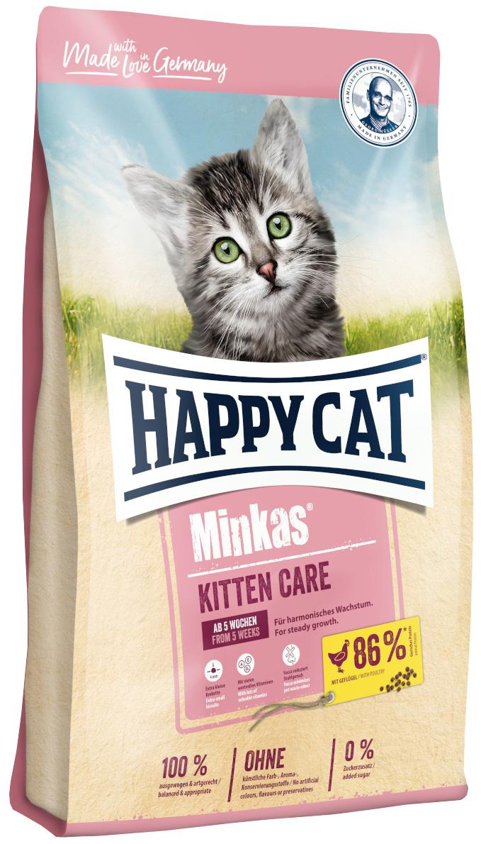 Happy Cat Minkas Kitten Care для котят с птицей (1,5 кг)