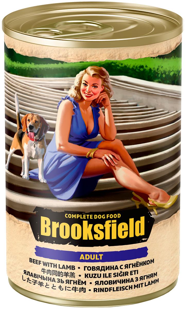 Brooksfield Adult Dog All Breeds для взрослых собак всех пород с говядиной, ягненком и рисом 400 гр (400 гр)