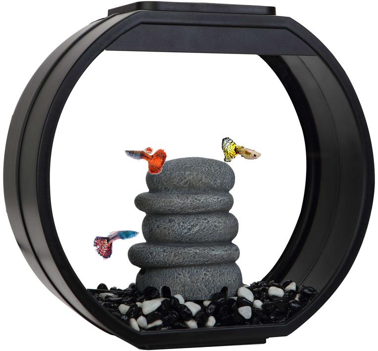Аквариум Aa Aquarium Deco O Mini Upg дисковидный 10 литров черный (1 шт)