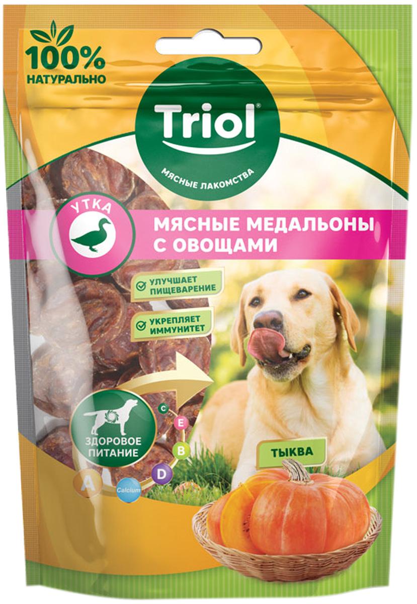 Лакомство Triol для собак медальоны мясные с уткой и тыквой 70 гр (1 шт)