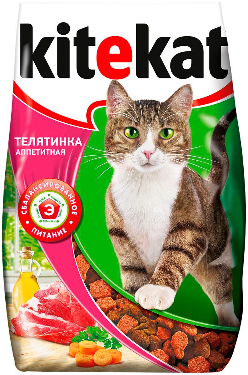 Картинка - Kitekat аппетитная телятинка для взрослых кошек  (1,9 кг)