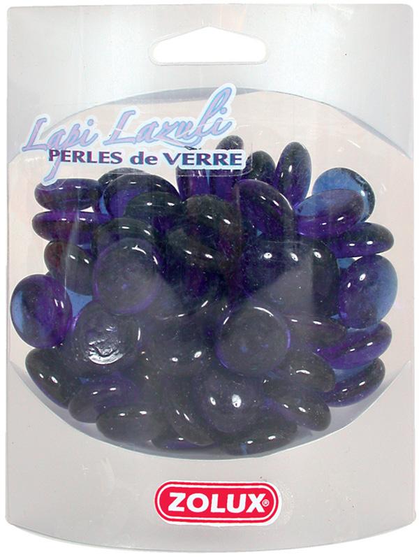 Декор для аквариума Zolux Лазурит стеклянный насыщенно синий 410 гр (1 уп)