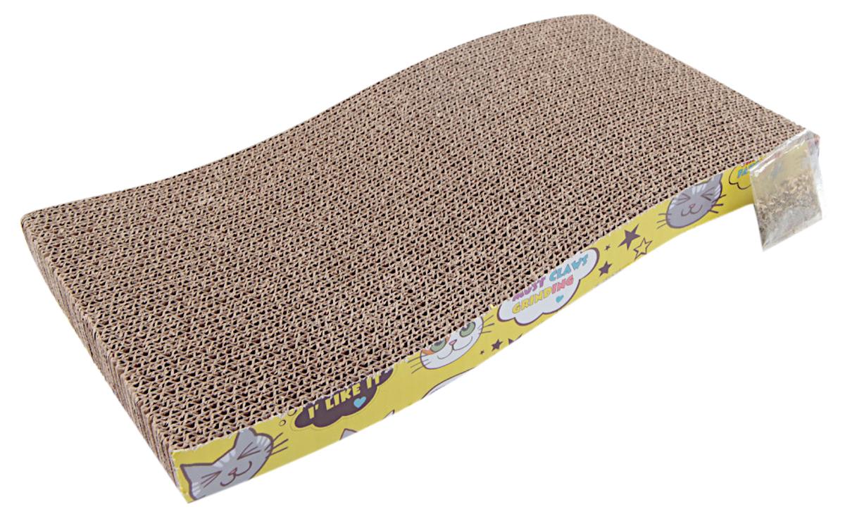 Когтеточка коврик Pet Choice картонная с кошачьей мятой 43 х 21 х 6,5 см (1 шт)