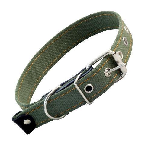 Ошейник брезентовый для собак одинарный 2,5 см х 53 см Гамма (1 шт)