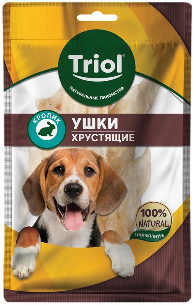 Лакомство Triol для собак ушки кроличьи хрустящие 30 гр (1 шт)