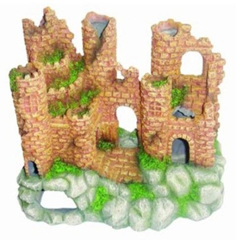 Декор грот для аквариума Замок, 20 х 12,5 х 16 см, Barbus, Decor 008 (1 шт)