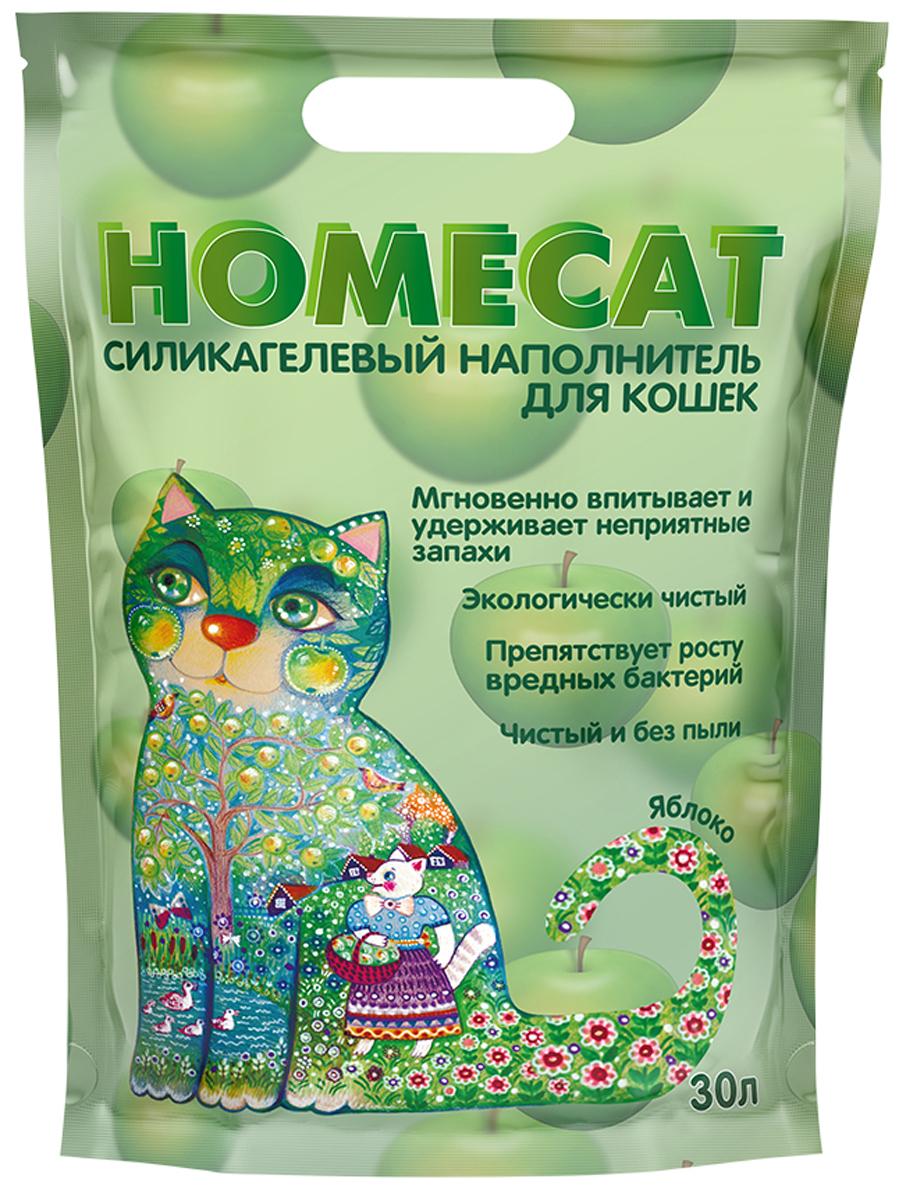 Homecat яблоко наполнитель силикагелевый для туалета кошек (30 + 30 л)