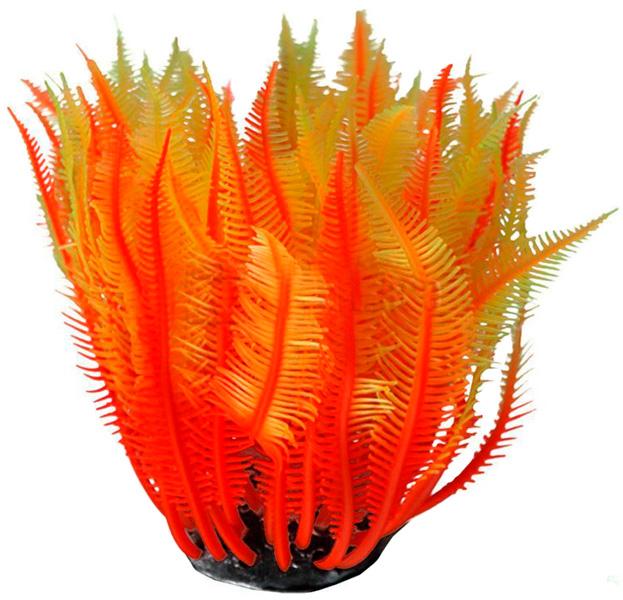 Декор для аквариума Коралл силиконовый Vitality желто-красный 4 х 4 х 12 см (1 шт) настольный декор ананас зеленый 12 х 12 х 22 см