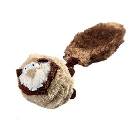 Игрушка для собак Барсук с 2 пищалками и теннисным мячом 26 см GiGwi (1 шт)