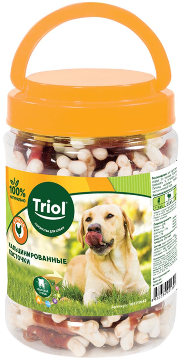 Лакомство Triol для собак косточки кальцинированные с курицей 450 гр (1 шт)