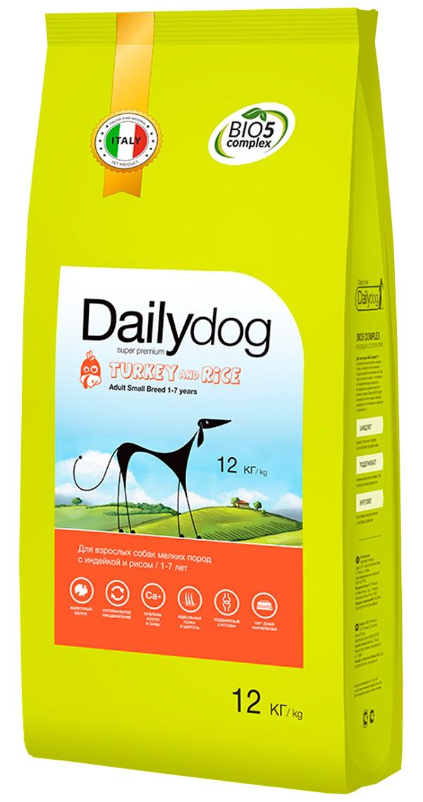 Dailydog Adult Small Breed Turkey & Rice монобелковый для взрослых собак маленьких пород с индейкой и рисом (3 кг)
