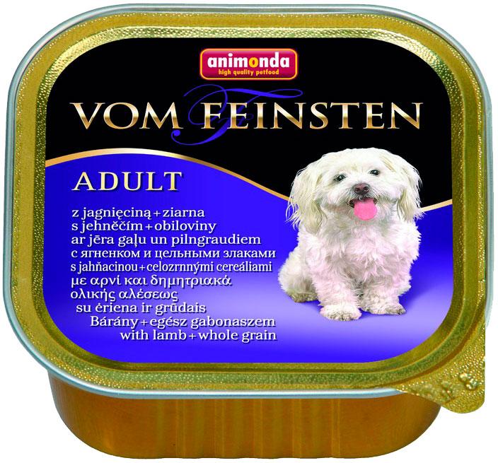 Animonda Vom Feinsten Adult Mit Lamm & Vollkorn для взрослых собак с ягненком и цельными злаками 150 гр (150 гр х 22 шт) фото