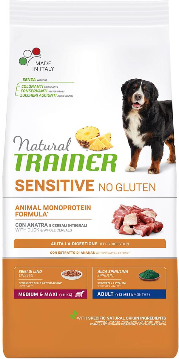 Trainer Natural Sensitive No Gluten Medium & Maxi Adult Duck безглютеновый для взрослых собак средних и крупных пород с уткой (3 кг) фото