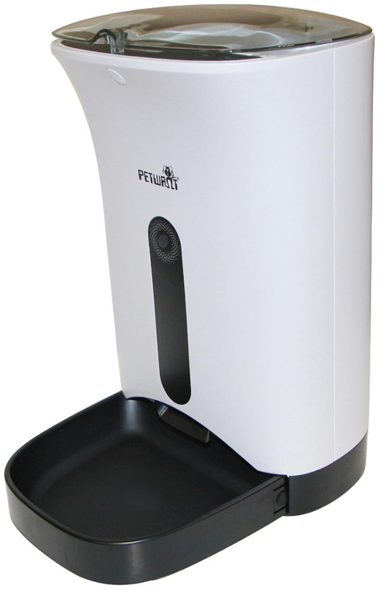 Автоматическая кормушка для собак и кошек Petwant с Wi-Fi и видеокамерой для сухого корма 4,3 л (1 шт) автоматическая кормушка petwant pf 102 white