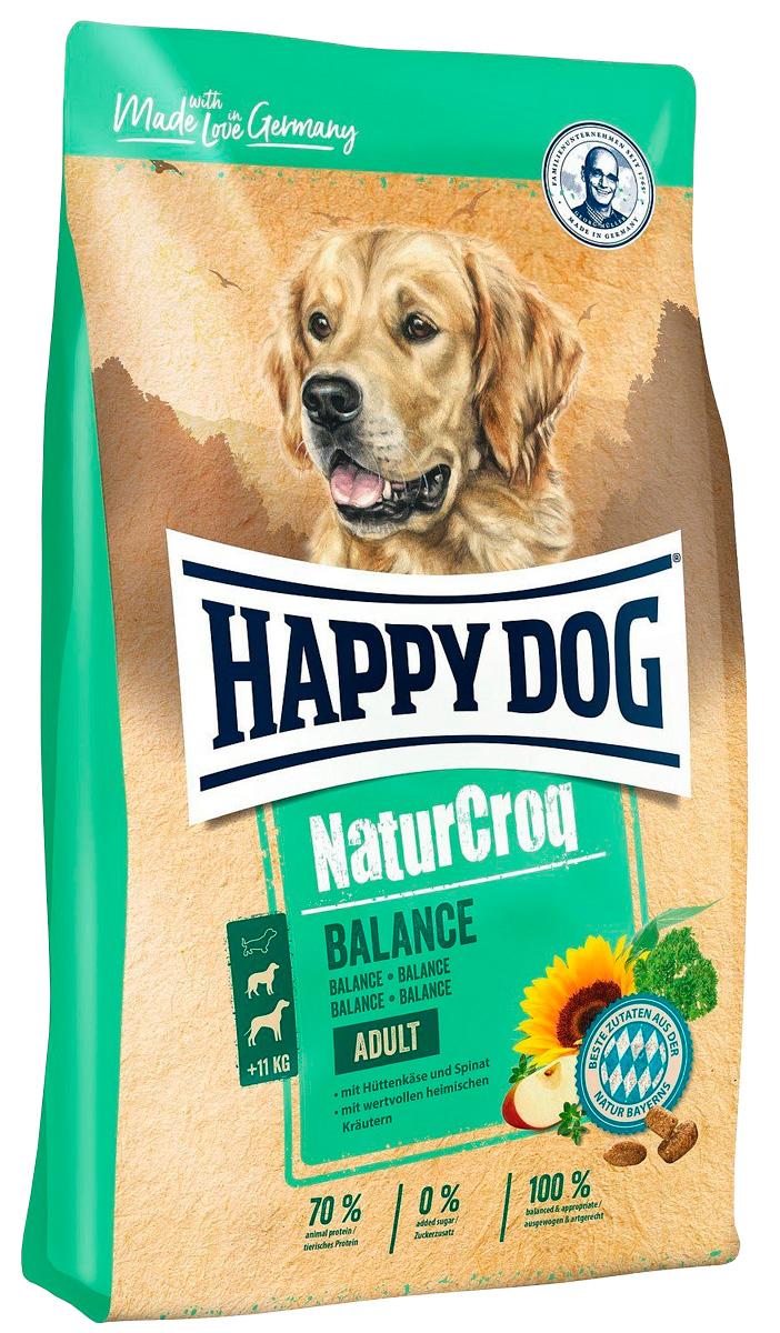 Happy Dog Naturcroq Balance для взрослых собак всех пород (15 кг) happy dog naturcroq senior для пожилых собак всех пород 15 кг