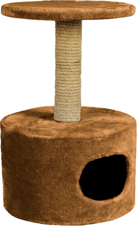 Дом для кошек круглый Зооник коричневый мех 42 х 66 см (1 шт)