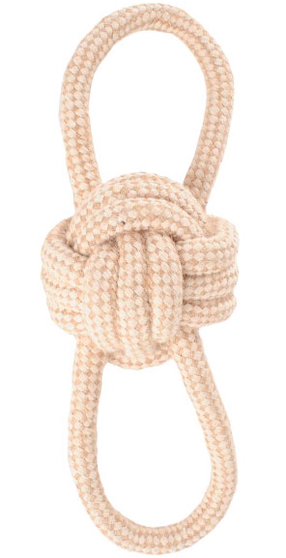 Игрушка для собак Triol Natural Мяч с петельками хлопок джут 8 см 25 см (1 шт)