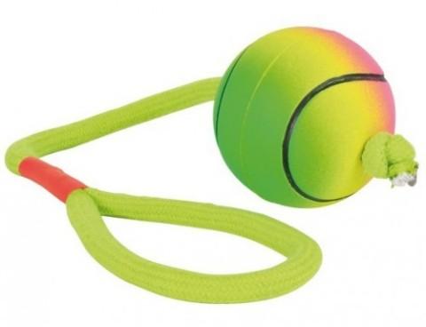 Trixie игрушка для собак «Мяч плавучий с веревкой» (6 см)