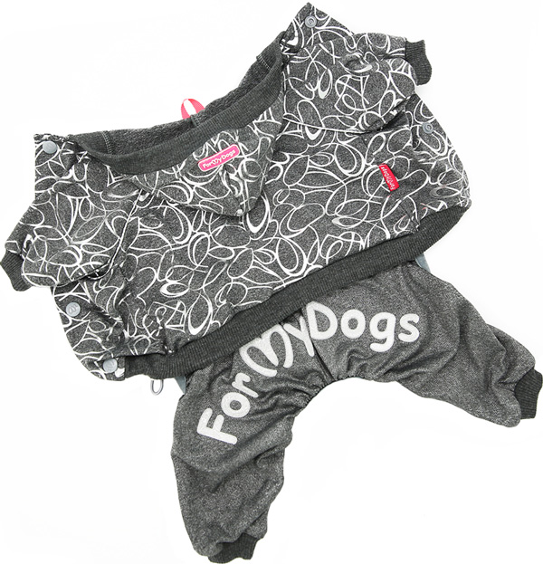 For My Dogs костюм для собак трикотаж серый 403ss-2019 (10Chh)
